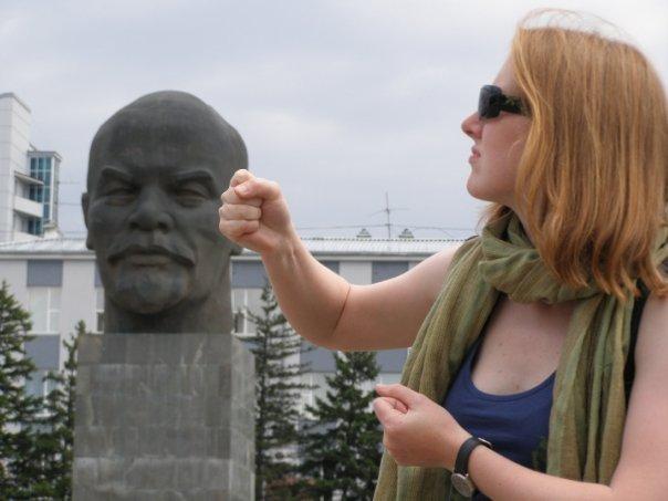 Kasia Gizińska z Leninem