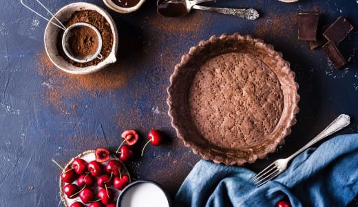 tarta na czekoladowym spodzie