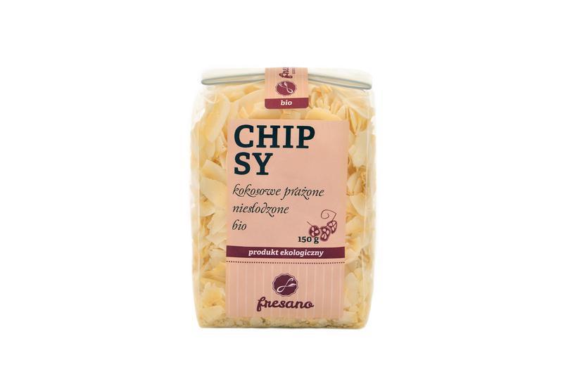 Produkt Chipsy kokosowe prażone niesłodzone (EKO) - zdrowa żywność blisko Ciebie