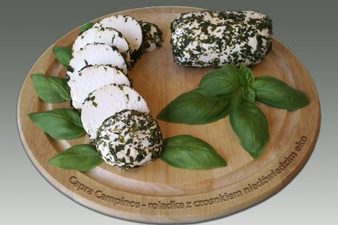 Produkt Roladka z sera koziego z czosnkiem niedźwiedzim (EKO) - zdrowa żywność blisko Ciebie