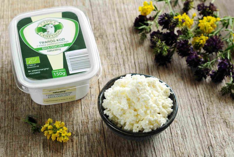 Produkt Twaróg z mleka koziego ekologiczny (EKO) - zdrowa żywność blisko Ciebie