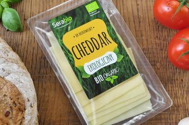 Produkt Ser Ekologiczny CHEDDAR w plastrach 125g - zdrowa żywność blisko Ciebie