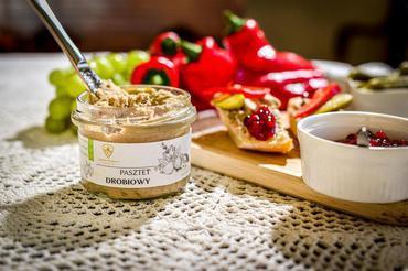 Produkt Pasztet drobiowo  wieprzowy w słoiku - zdrowa żywność blisko Ciebie
