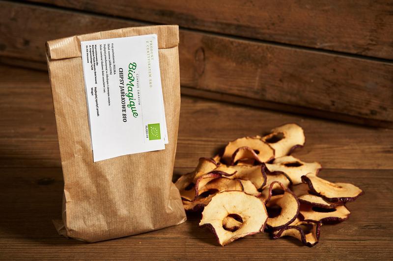 Produkt Chipsy jabłkowe BIO 100g - zdrowa żywność blisko Ciebie