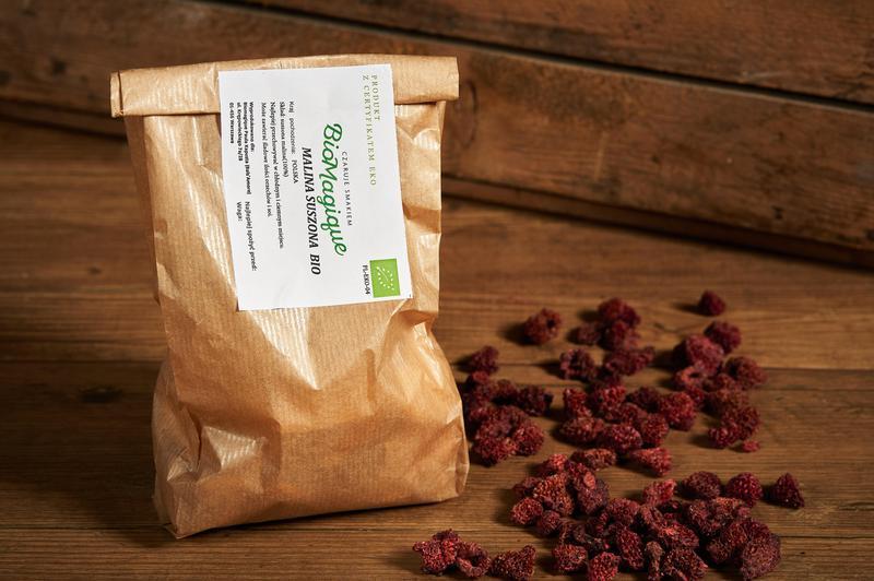 Produkt Malina suszona BIO 100g - zdrowa żywność blisko Ciebie