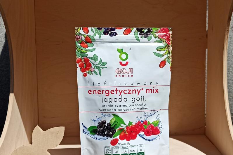 Produkt Liofilizowany energetyczny mix jagoda goji 25g - zdrowa żywność blisko Ciebie