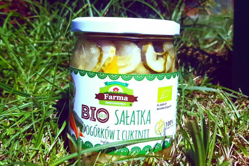 Produkt Sałatka z ogórków i cukinii (EKO) - zdrowa żywność blisko Ciebie