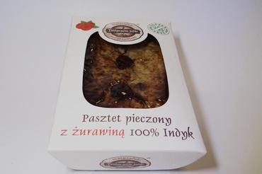 Produkt pasztet pieczony 100% indyk z żurawiną - zdrowa żywność blisko Ciebie