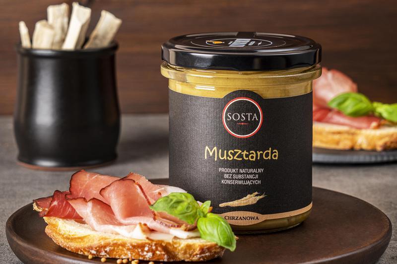 Produkt Musztarda chrzanowa 320 g SOSTA - zdrowa żywność blisko Ciebie