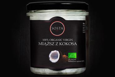 Produkt Miąższ z kokosa BIO 280 g SOSTA - zdrowa żywność blisko Ciebie