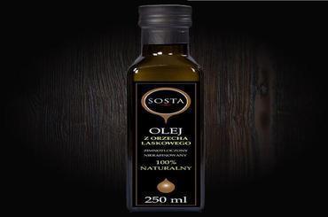 Produkt Olej z orzecha laskowego 250 ml SOSTA - zdrowa żywność blisko Ciebie