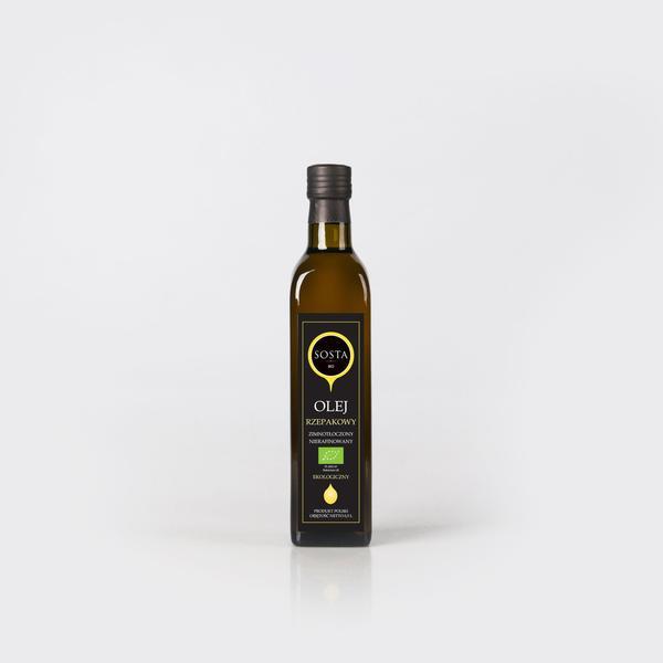 Produkt Olej rzepakowy BIO 500 ml SOSTA - zdrowa żywność blisko Ciebie