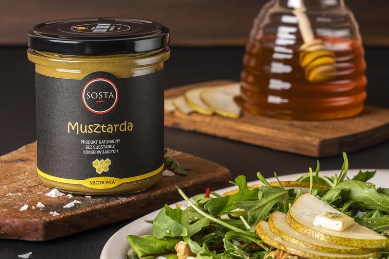 Produkt Musztarda miodowa 320 g SOSTA - zdrowa żywność blisko Ciebie