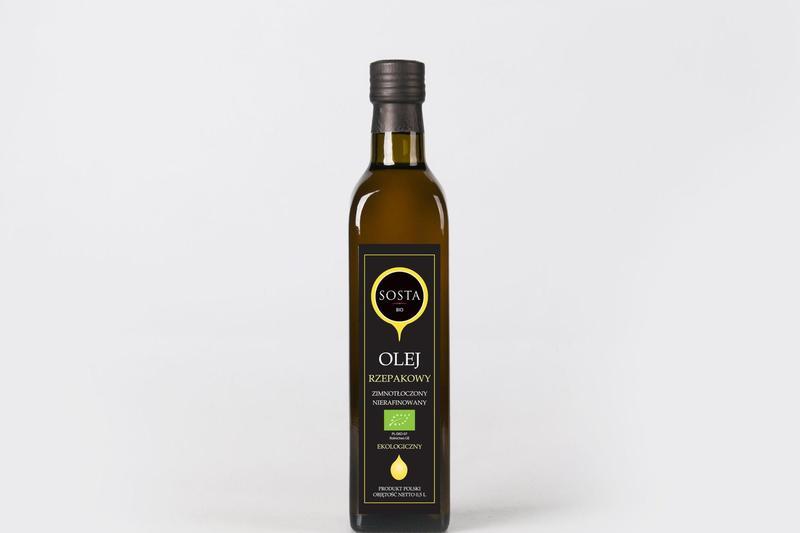 Produkt Olej rzepakowy BIO 1 litr SOSTA - zdrowa żywność blisko Ciebie