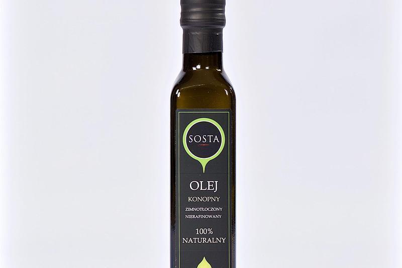Produkt Olej konopny 100 ml SOSTA - zdrowa żywność blisko Ciebie