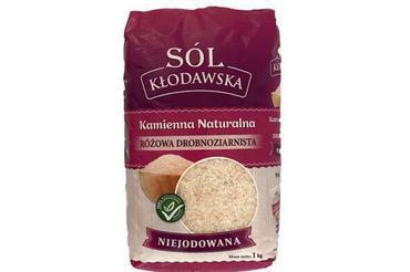 Produkt Sól kamienna z Kłodawy - różowa drobnoziarnista - zdrowa żywność blisko Ciebie