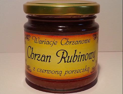 Produkt Chrzan Rubinowy z czerwoną porzeczką - Specjały spod Strzechy - zdrowa żywność blisko Ciebie
