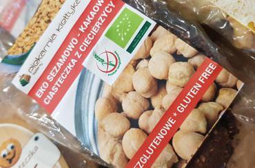 Produkt EKO sezamowo-kakaowe ciasteczka z ciecierzycy 120 g BEZGLUTENOWE - zdrowa żywność blisko Ciebie