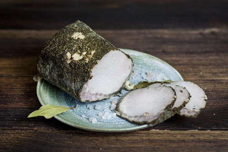 Produkt Schab na szaro w czosnku w plasterkach - zdrowa żywność blisko Ciebie