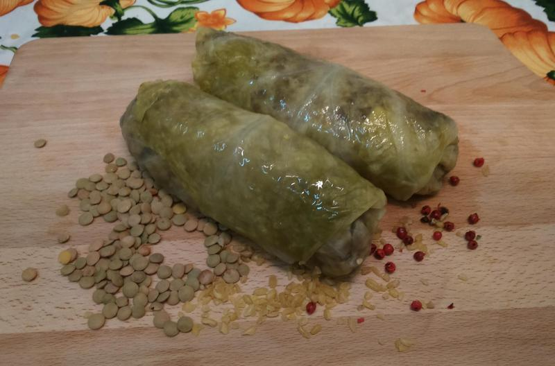 Produkt Gołąbki z kaszą, soczewicą i pieczarkami - zdrowa żywność blisko Ciebie