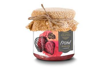 Produkt Miód kremowany z truskawką - zdrowa żywność blisko Ciebie