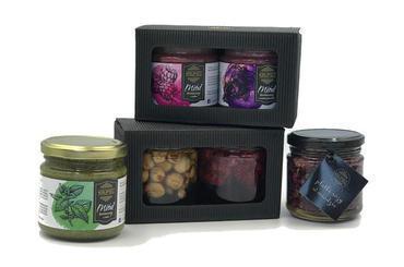Produkt DUO zestaw prezentowy BESTSELLER - orzech laskowy w miodzie, malinki w miodzie- limited edition - zdrowa żywność blisko Ciebie