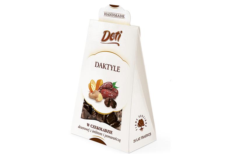 Produkt Doti - Daktyle w czekoladzie deserowej z imbirem i pomarańczą - zdrowa żywność blisko Ciebie