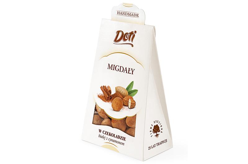 Produkt Doti - Migdały w czekoladzie białej z cynamonem - zdrowa żywność blisko Ciebie