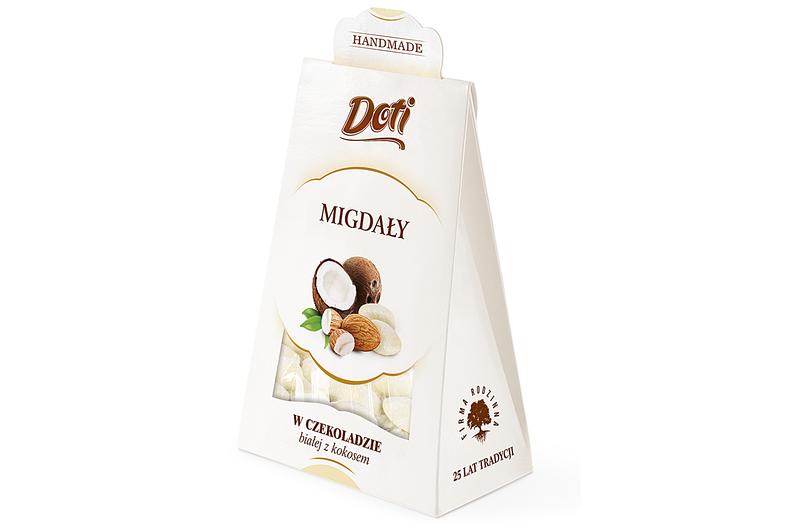 Produkt Doti - Migdały w czekoladzie białej z kokosem - zdrowa żywność blisko Ciebie