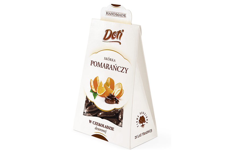 Produkt Doti - Skórka pomarańczy w czekoladzie deserowej - zdrowa żywność blisko Ciebie