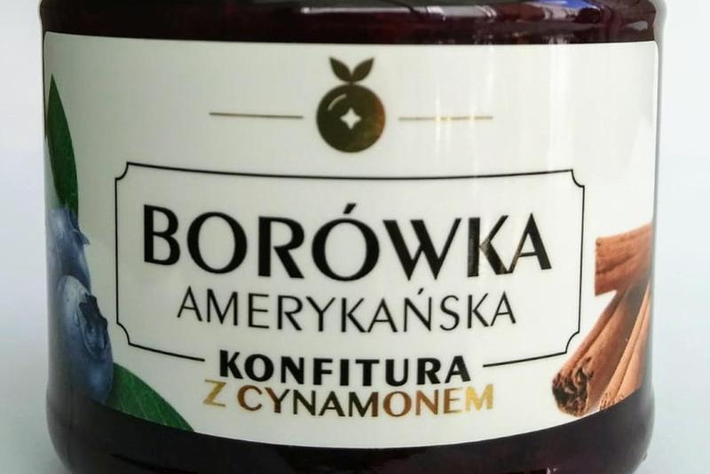 Produkt Konfitura z borówki amerykańskiej - z cynamonem - zdrowa żywność blisko Ciebie