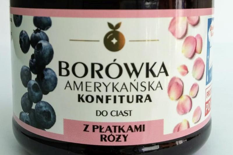 Produkt Konfitura z borówki amerykańskiej - z płatkami róż - zdrowa żywność blisko Ciebie